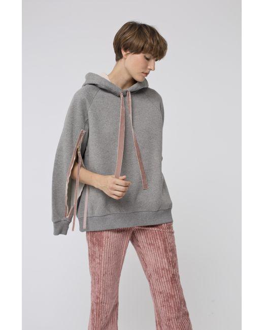 Dorothee Schumacher - Gray Cosy Casual Hoodie Sweatshirt 1/1 - Lyst