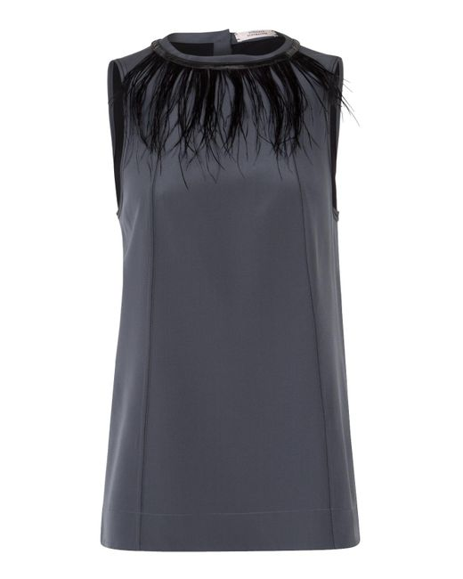 Dorothee Schumacher | Gray Linear Seduction Top | Lyst