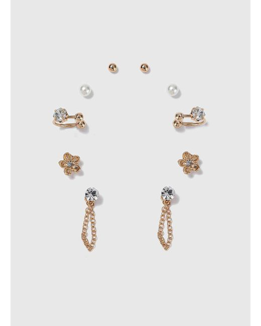 Dorothy Perkins | Multicolor Stud Earrings And Earcuff | Lyst