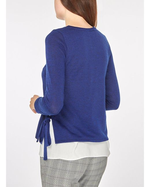 All Size Dorothy Perkins Womens Cobalt Side Tie 2-In-1 Top- Outlet 2018 SdBBGd7