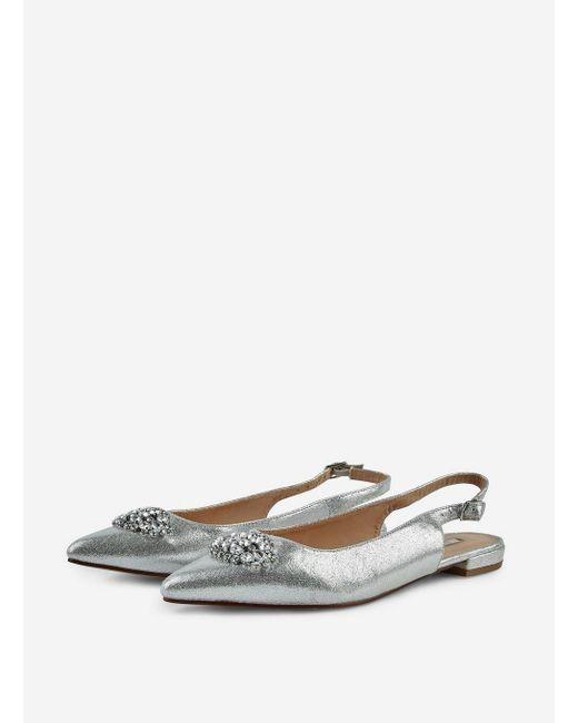 fcb825673 Dorothy Perkins Showcase Silver  petrona  Jewelled Shoes in Metallic ...