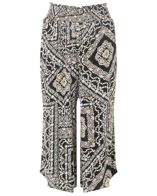 Dorothy Perkins - Black Paisley Print Culotte Trousers - Lyst