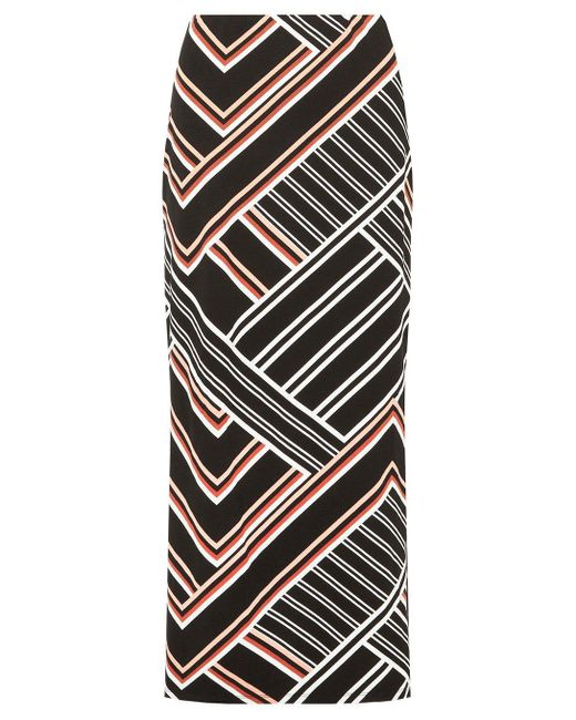 Dorothy Perkins - Black Multi Coloured Geometric Striped Maxi Skirt - Lyst