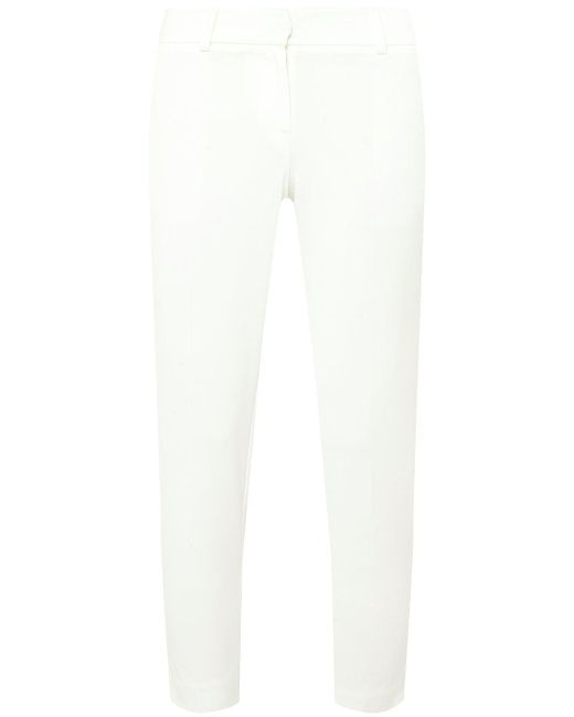 Dorothy Perkins - Petite White Pique Trousers - Lyst