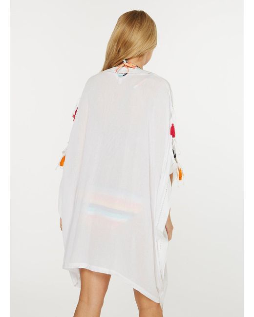 Shop Cheap Online Free Shipping Amazing Price Dorothy Perkins Womens *DP Beach Tassel Trim Kimono- Newest Clearance Pick A Best Cheap Excellent d6SjaLXg