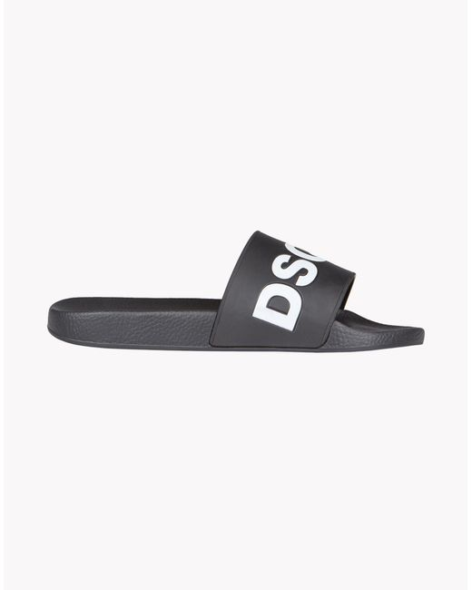 DSquared² | Black D2 Slides for Men | Lyst