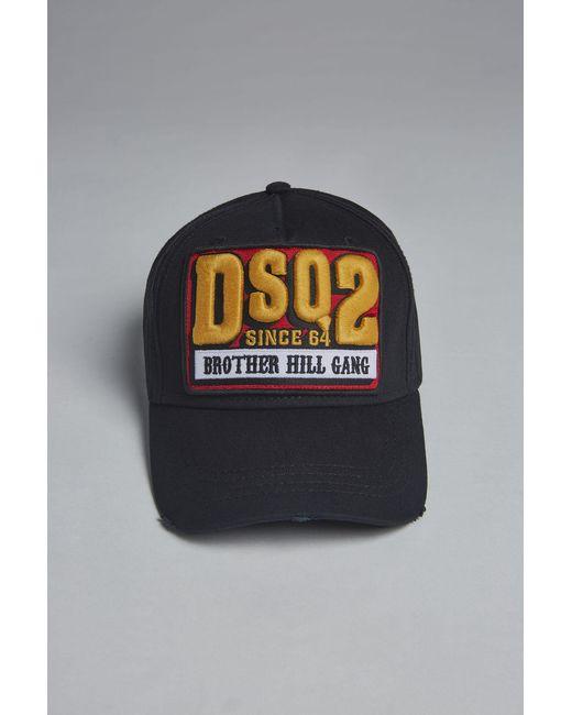 Lyst - DSquared² Dsq2 Baseball Cap in Black for Men - Save 38% e76d4beb66ae