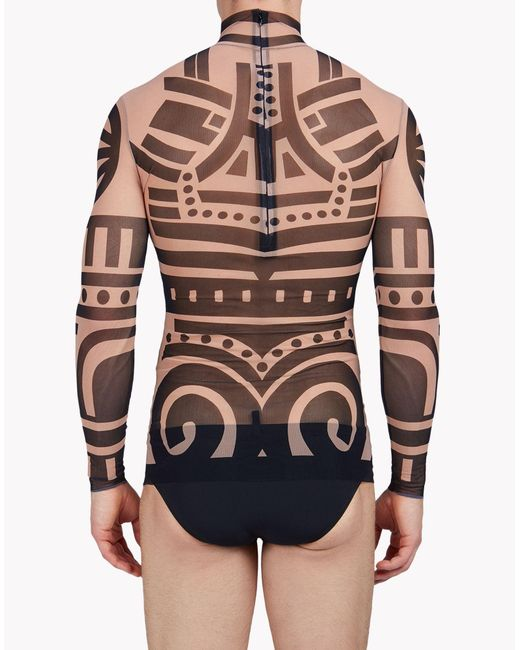 Dsquared tattoo long sleeve in black for men lyst for Tattoo sleeve shirts for women