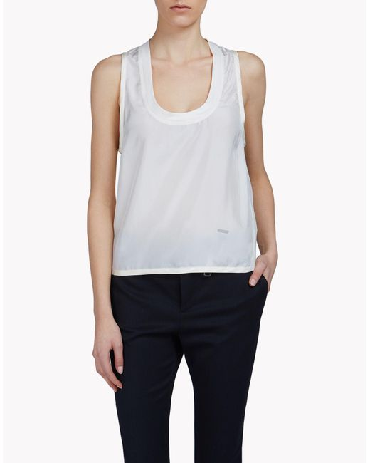 DSquared² | White Silk Top | Lyst