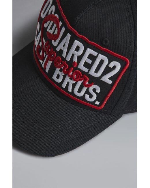 ... DSquared² - Black Superior Baseball Cap for Men - Lyst ... d1fee5adaf2d
