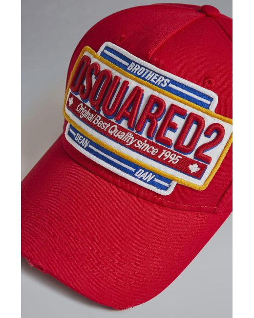 1194a2b5f DSquared² Canadian Twins Baseball Cap in Red for Men - Lyst