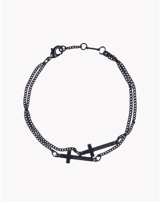DSquared² | Black Cross Bracelet for Men | Lyst