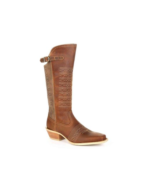 Durango - Brown Collar Western Cowboy Boot - Lyst