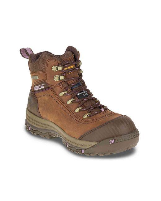 Caterpillar - Brown Ally Work Boot for Men - Lyst