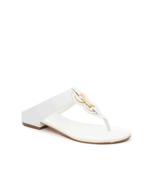 Isola - White Sabrina Flat Sandal - Lyst