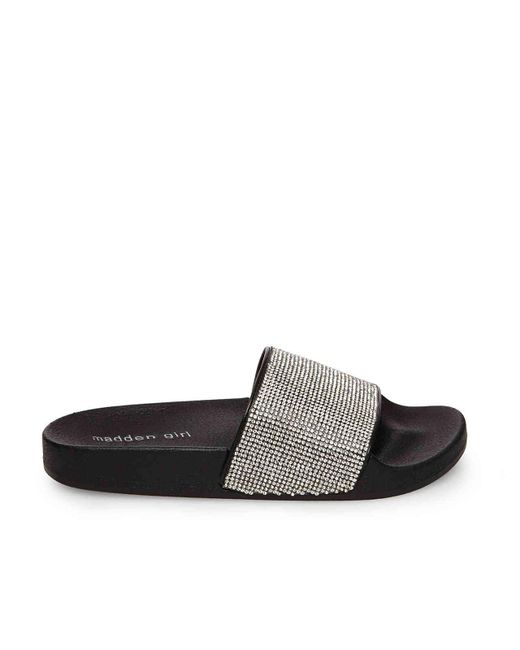 0cec9d0dd9a2 ... Madden Girl - Metallic Fancy Slide Sandal - Lyst ...