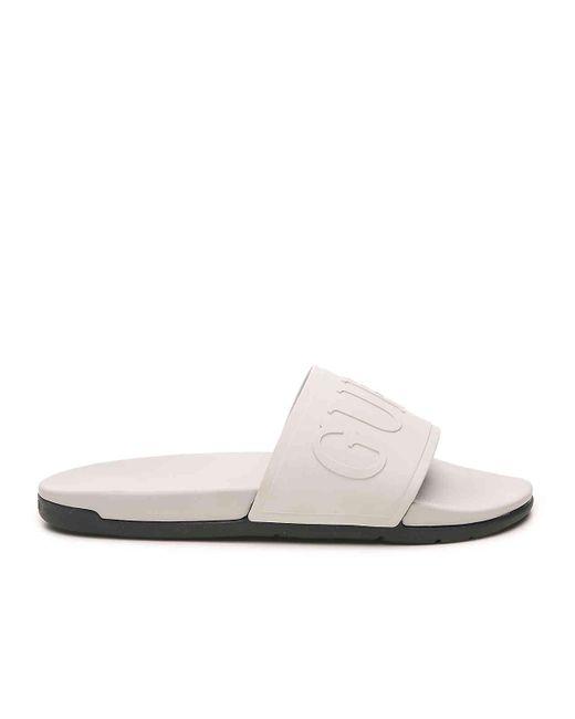 1684f580c672 ... Guess - Gray Gmdelfino Slide Sandal for Men - Lyst ...