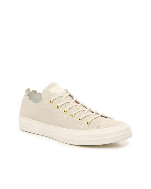 58f203fe3a636a Converse - White Chuck Taylor All Star Scallop Sneaker - Lyst ...