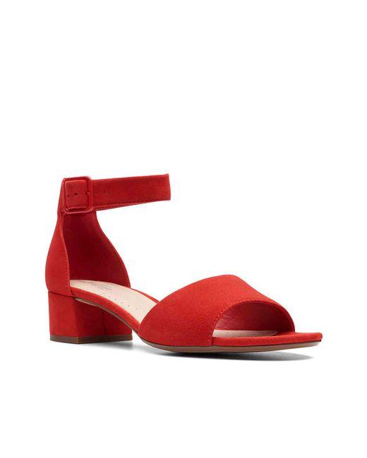 2f830406602 Lyst - Clarks Elisa Dedra Sandal in Red
