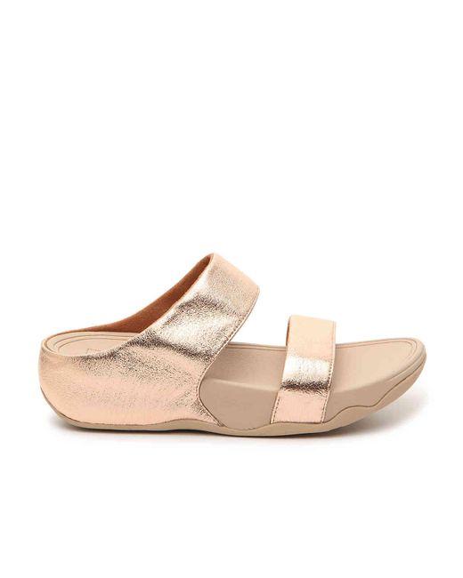 85499d39376 ... Fitflop - Metallic Lulu Glitzy Wedge Sandal - Lyst ...