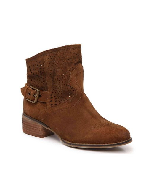 Naughty Monkey - Brown Zoey Western Bootie - Lyst