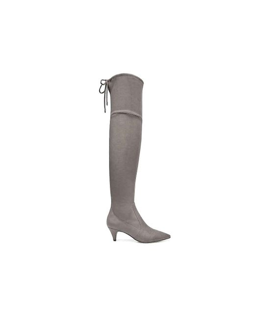 befe717d516 ... Sam Edelman - Gray Kristie Over The Knee Boot - Lyst ...