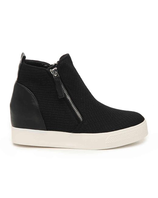dcdf16df2e7 ... Steve Madden - Black Loxley Wedge High-top Sneaker - Lyst ...