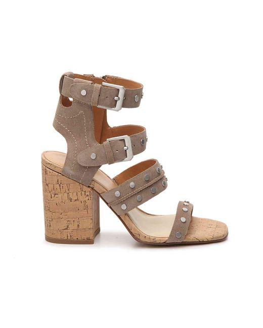 Dolce Vita Women's Eddie Suede High Block Heel Gladiator Sandals AvA60ieAY