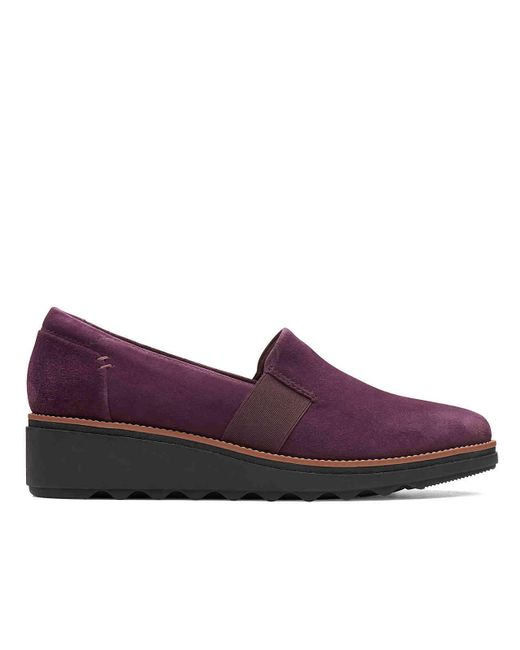 b387ceedf7 ... Clarks - Purple Sharon Tori Wedge Slip-on - Lyst ...