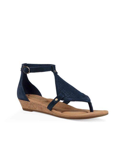 Ugg - Blue Briona Wedge Sandal - Lyst