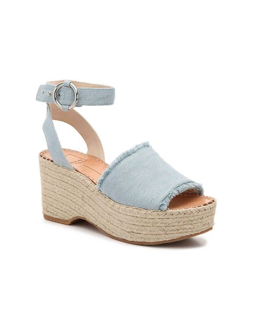 7c1fe5aa1f3 Lyst - Dolce Vita Lesly Espadrille Wedge Sandal in Blue - Save 53%