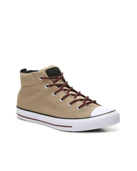 Converse - Brown Chuck Taylor All Star Street Mid-top Sneaker - Lyst