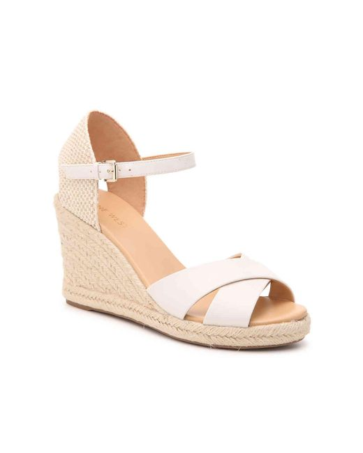 35ecc1c24 Nine West - White Joydyn 3 Espadrille Wedge Sandal - Lyst ...