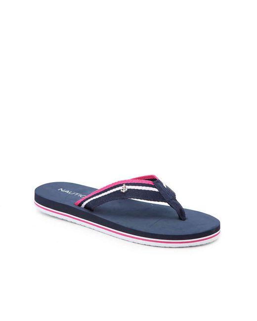 Nautica - Blue Downhaul Flip Flop - Lyst