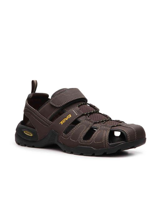 ecb0312e5cd7 Teva - Brown Forebay Fisherman Sandal for Men - Lyst ...