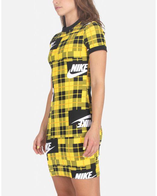 Rochester hills yellow plaid bodycon dress