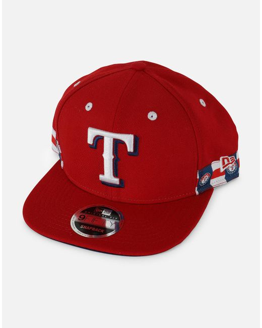 finest selection 41a20 d79f4 KTZ - Red Mlb Texas Rangers 018 Snapback Hat for Men - Lyst ...
