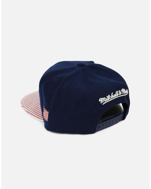 65eab32dcab13 ... discount code for mitchell ness blue minnesota timberwolves og usa snapback  hat for men lyst aaaf1