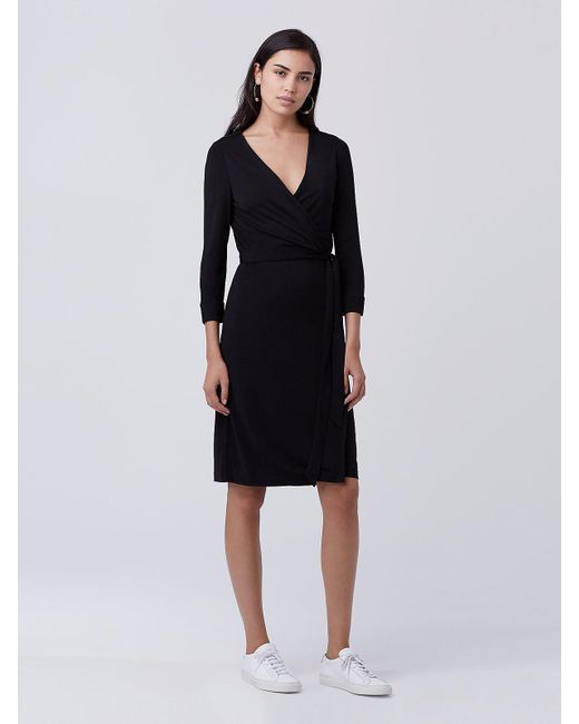 Diane von Furstenberg | Black New Julian Two Matte Jersey Wrap Dress | Lyst