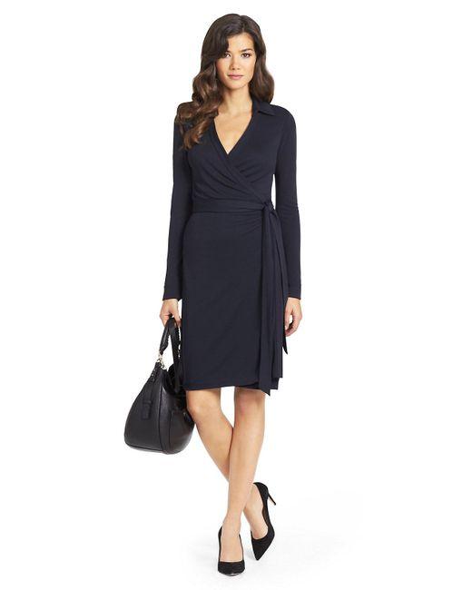 Diane von Furstenberg | Blue New Jeanne Two Matte Jersey Wrap Dress | Lyst