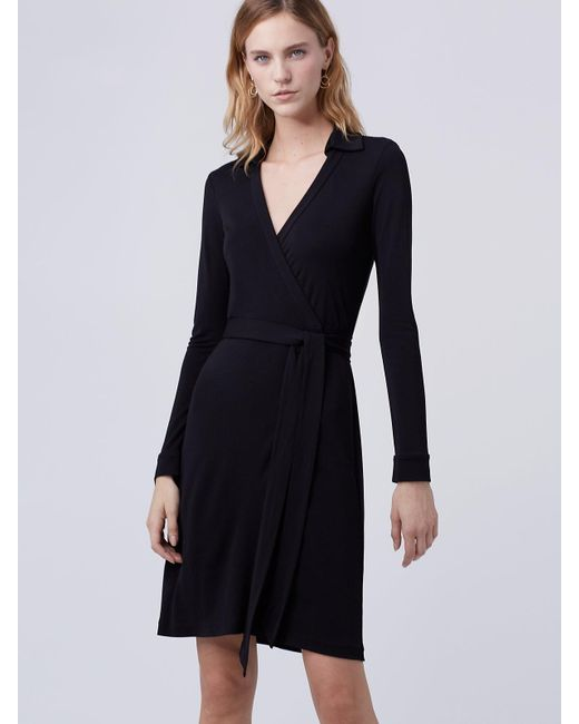 Diane von Furstenberg | Black New Jeanne Two Matte Jersey Wrap Dress | Lyst