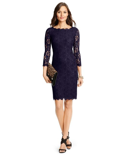Diane von Furstenberg | Blue Zarita Long Lace Dress | Lyst