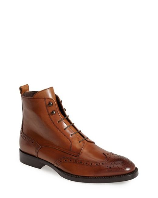 To Boot | Brown 'brentwood' Wingtip Boot for Men | Lyst