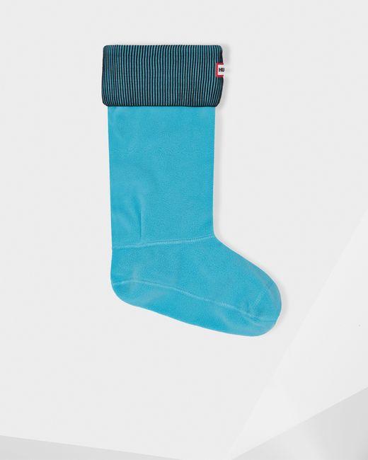 HUNTER | Blue Plaited Rib Boot Socks for Men | Lyst
