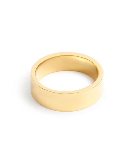 J.Crew | Metallic 14k Gold 6mm Flat Band | Lyst