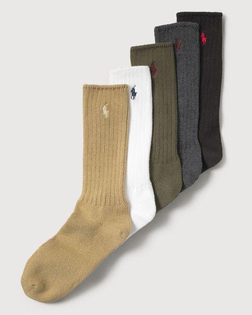 Polo Ralph Lauren   Green Men's Stretch Cotton Socks for Men   Lyst