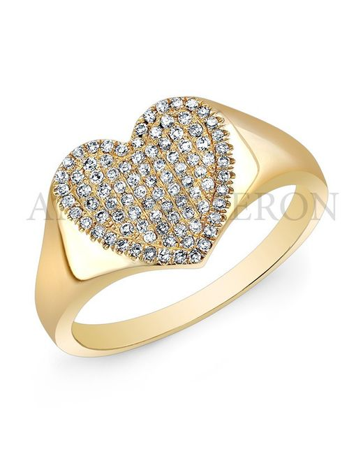 Anne Sisteron - Metallic 14kt Yellow Gold Diamond Rachel Heart Ring - Lyst
