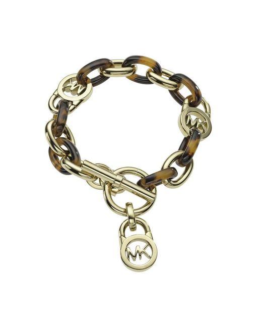 Michael Kors | Metallic Heritage Gold And Tort Chain Bracelet | Lyst