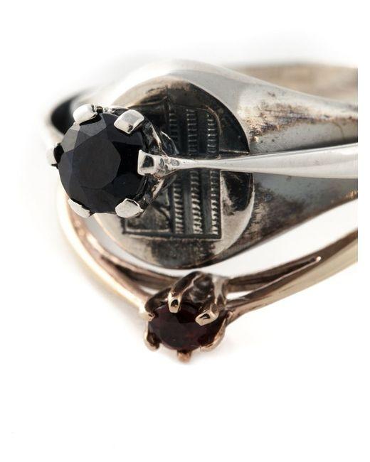 Puro Iosselliani   Metallic Signet Ring   Lyst