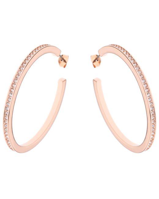Karen Millen   Pink Large Crystal Hoop Earrings   Lyst